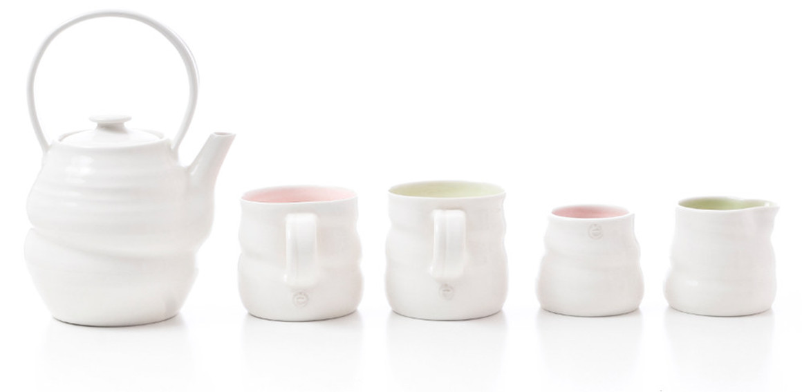 Handmade tactile Irish porcelain by Chloe Dowds